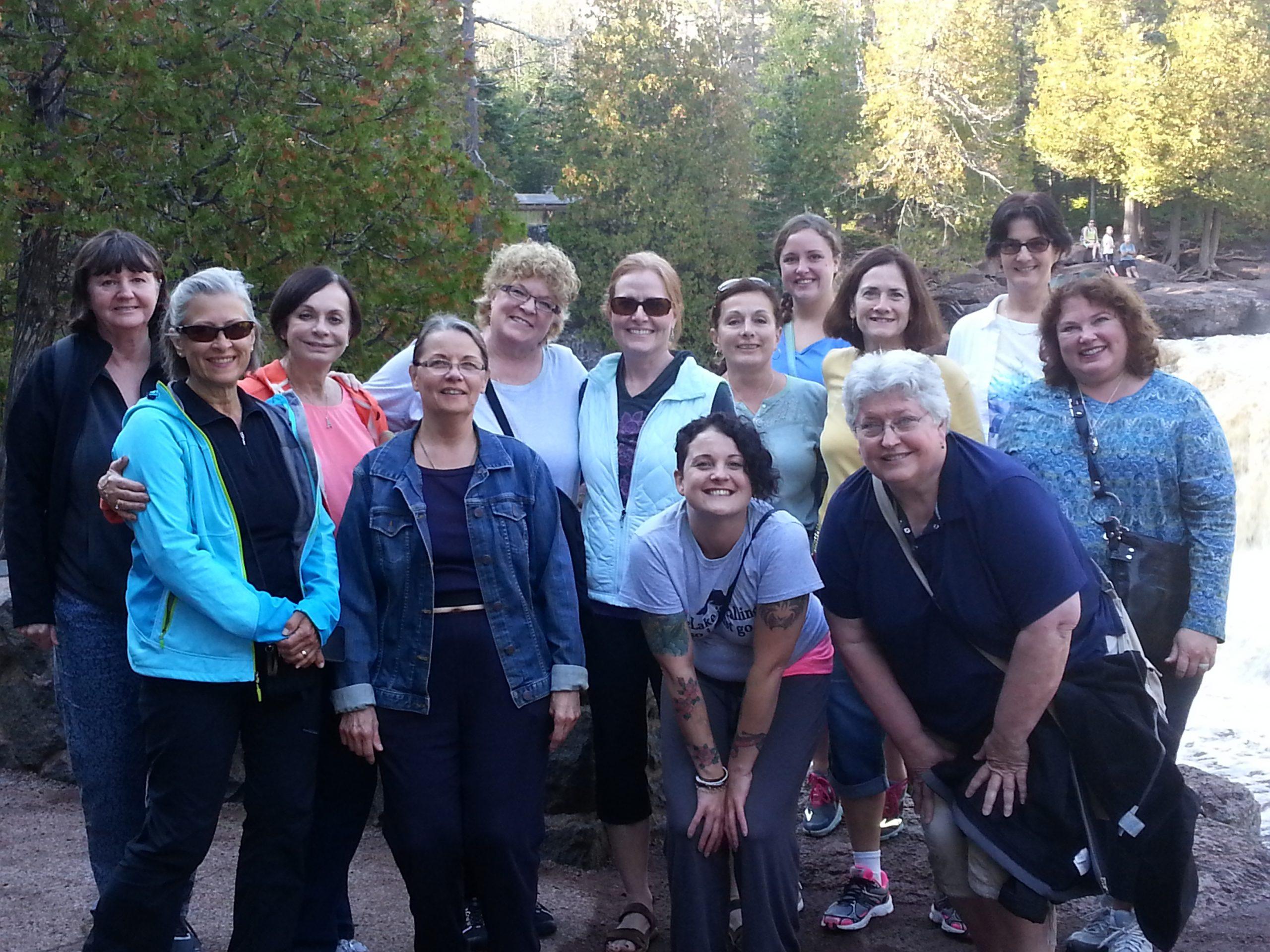 Group of women on retreat